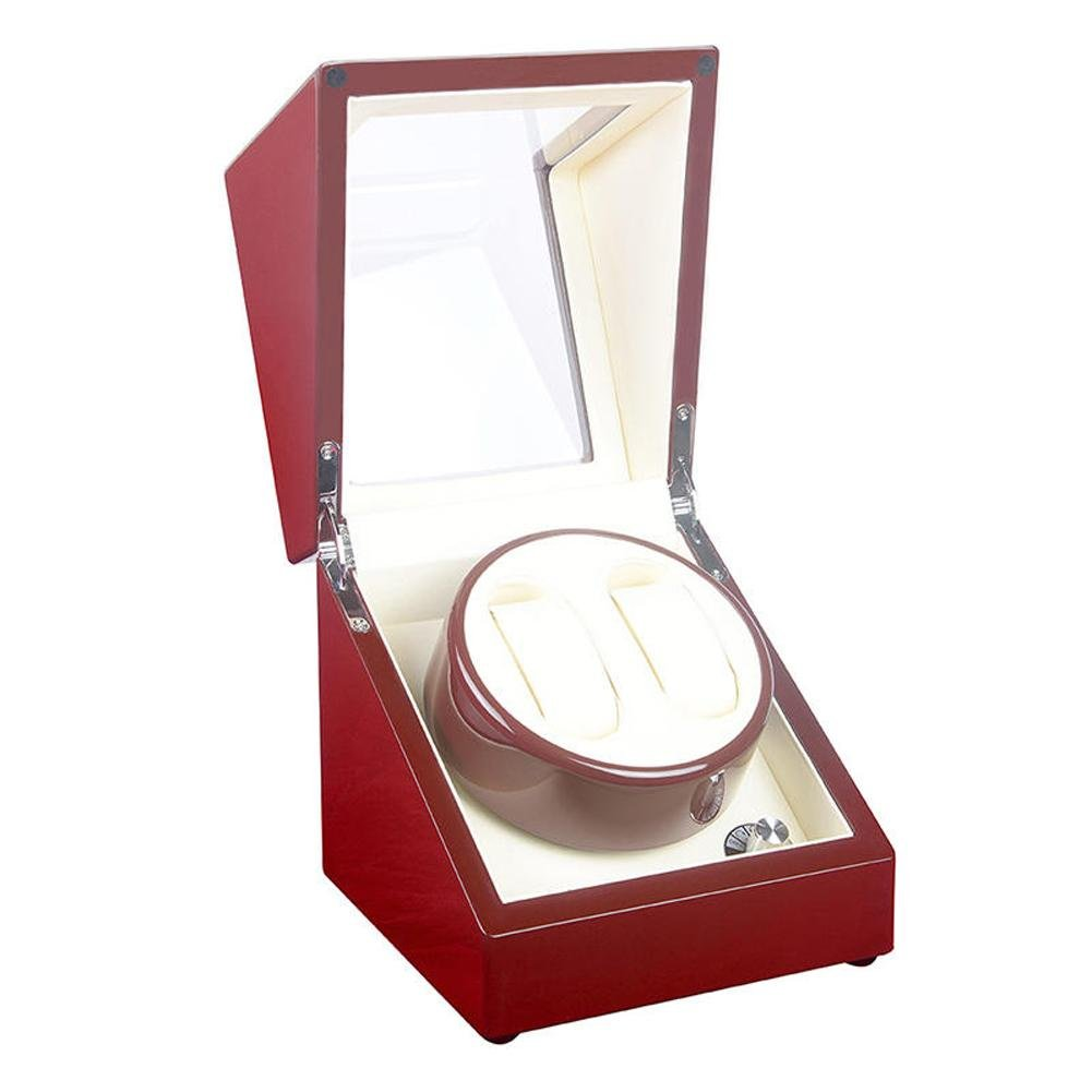 KAIHE-BOX Luxury PU Fiber Single 2 Watch Winder (5 color ) Display Box Case [100% Handmade] , #17 by KAIHE-BOX