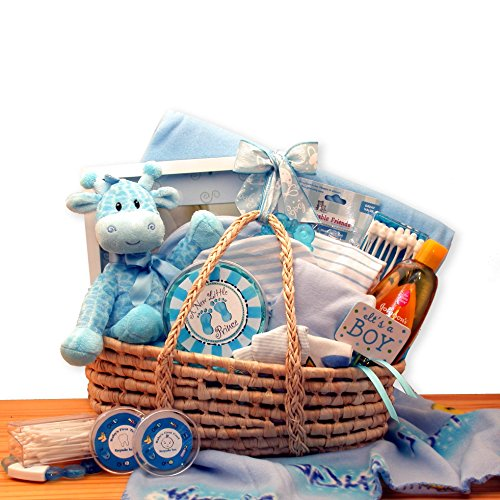 Precious Baby Blue New Baby Gift Basket