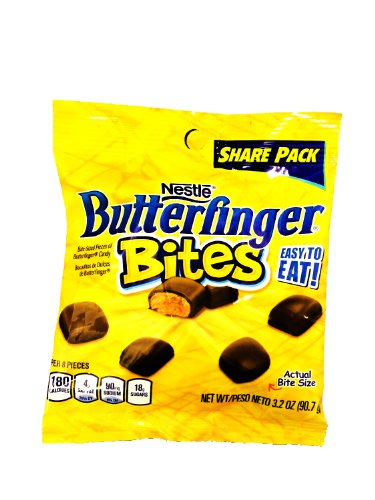 Nestle Butterfingers Bites 3.0oz Share Pack (6 Pack)