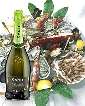 CANTI Prosecco D.O.C. Millesimato Vino Espumoso Italiano Ecológico Extradry Seco - 1 Botella X 750ml