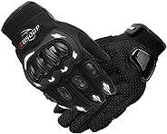 Romacci Luvas de motocicleta masculinas com tela sensível ao toque de dedo completo motocicleta motociclismo m