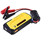 VicTsing Jump Starter 18000mAh 600A Portable Car Battery with Intelligent LCD screen/ Built-in Compass/ Dual USB Charging Ports/ Emergency Warning Beacon