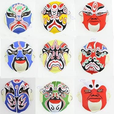 Itemap Hand Painted Crafts Chinese Art Culture Peking Opera Styles Mask Paper Pulp - Mask Chinese Opera