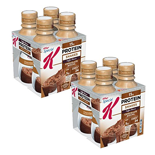 Kellogg's Special K Shake, 15 Grams of Protein, Chocolate Mocha, 10 Oz, 4 Ct (Chocolate Mocha, Pack of 2)