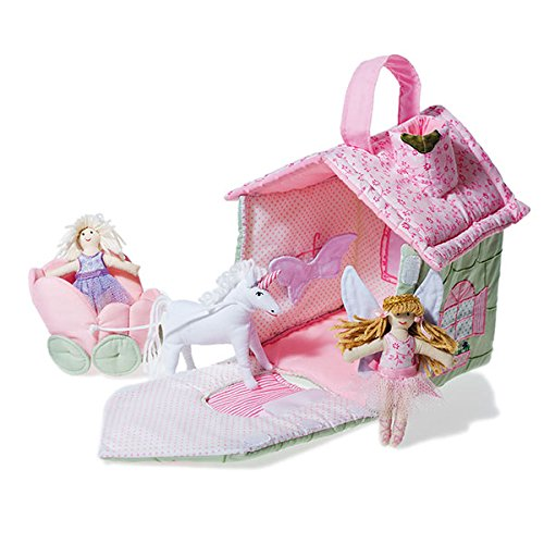 Oskar & Ellen 5 piece Hand Sewn Fair Trade Fairy Cottage Fabric Playset Toy