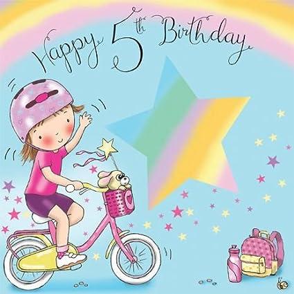 Auguri Buon Compleanno 5 Anni.Twizler Biglietto Di Auguri Per Bambina Per Il 5