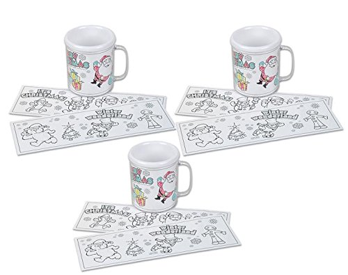 set of 3 christmas coloring mugs color your own holiday stocking stuffer craft favor buy online in oman rin products in oman see prices