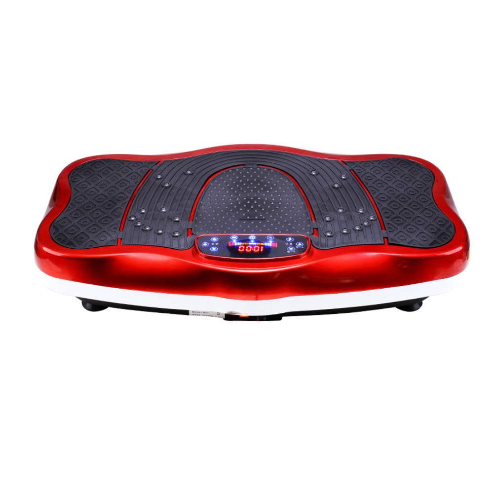 Vibration Platform Machines Fitness Body Vibration Machine Sole Magnetic Therapy with Vibration Plate and Remote Control,Red