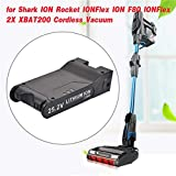 Rosycloud 25.2V 3000mAh Li-ion XBAT200 Replacement Battery Compatible with Shark ION Rocket IONFlex ION F80 IONFlex 2X XBAT200 Cordless Vacuums, Lithium Ion Battery for Shark Cordless Vacuum Benefit