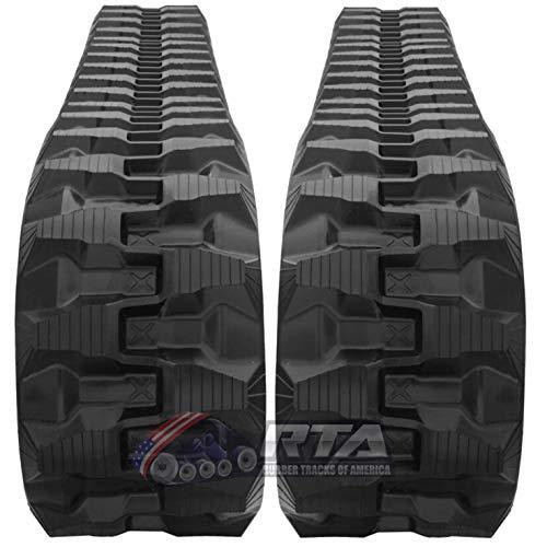 - Two Rubber Tracks Fits Komatsu PC27 PC27MR 300X52.5X80 T1 Tread