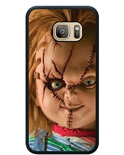 Deal Market LLC -Samsung S10 6.1 inch TPU Cases Designed with Scary Chucky Doll Black TPU Case for Samsung Galaxy S10 6.1 inch Ships Next Day from USA Inc. 1 Screen Protector -