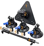 ALZO Three Point Car Camera Mount with Triangle Plate and 3 Suction Mounts