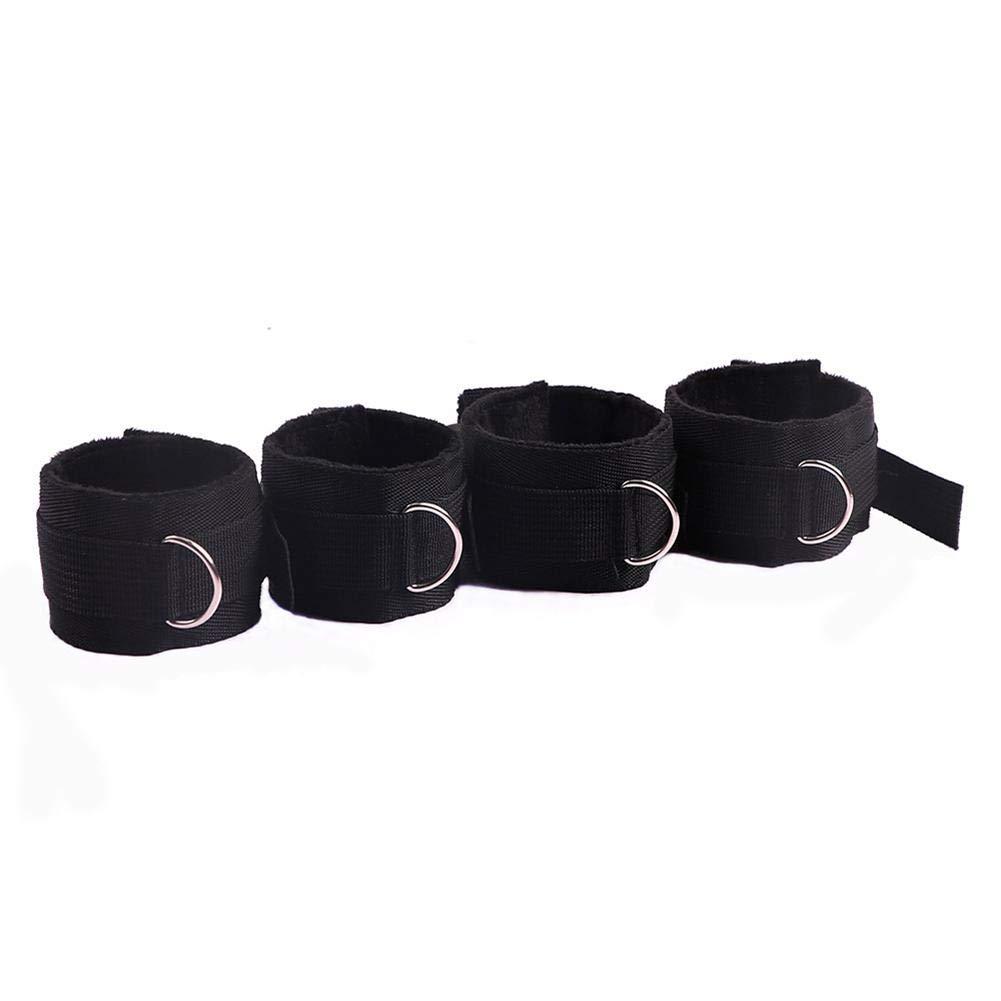 Lederhandschellen Alternatives Spielzeug Für Frauen Bettbindung Flirten Binden Paare Flirten Bettgurte Handschellen Knöchelset Sexartikel Für Erwachsene