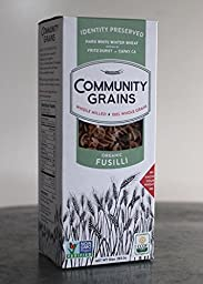Community Grains Whole Grain Organic Fusili 10oz - 100% traceable from seed to table!