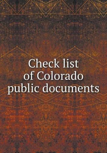 Download Check list of Colorado public documents PDF