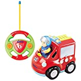 Cartoon Remote Control (R/C) Fire Engine for Kids and Toddlers with Sound and Lights by Dimple