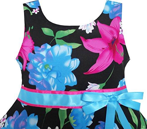 Vestiti Tie Estate Si Blu Vestono Sunhat Fiore Bow Ragazze Pecs Bambini Spiaggia 2 8wnFUPOU