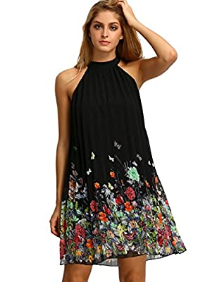 Floerns Women's Summer Chiffon Sleeveless Party Dress
