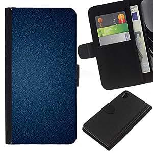 WINCASE (No Para Z2 Compact) Cuadro Funda Voltear Cuero Ranura Tarjetas TPU Carcasas Protectora Cover Case Para Sony Xperia Z2 D6502 - Textura del papel pintado con clase
