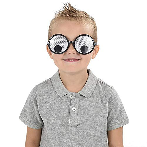 Kicko Googly Eye Glasses - 12 Pack Fashionable Unisex Shaking Eyes - Funny Ideas, Costume Props, Cosplay, Event Favors, Class Rewards, Getaway Accessories for Kids and Adults -