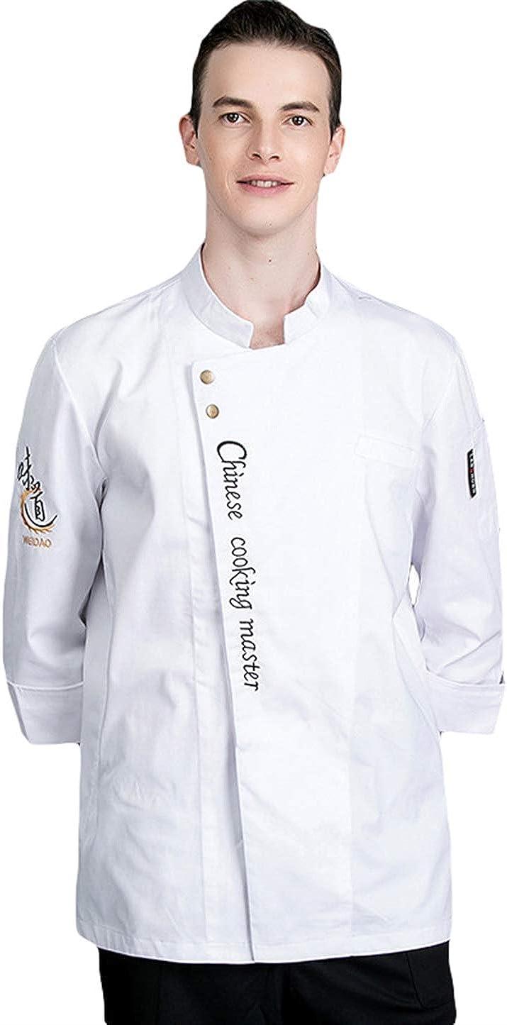 SK Studio Unisexo Algodón Manga Larga Chaqueta Cocina Uniforme Camisa de Cocinero Estilo 5: Amazon.es: Ropa y accesorios