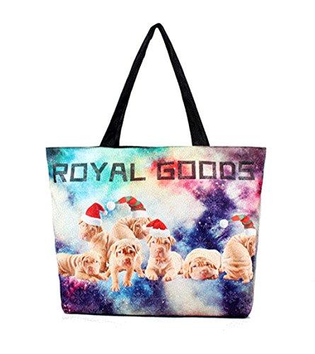 2017 sacchetti popolari caldi sacchetti di spalla borsa digitale stampa Logo (viola)