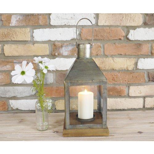 New Vintage Glass Garden Hurricane Large Lamp Lantern Pillar Candle Holder 39cm Giftwarez