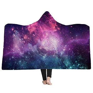 Starry Sky Hooded Blanket Umhang Adult Kids Winter Warme Decken Plüschdecke Wirft Quilts