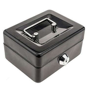 PrimeMatik - Caja Fuerte portátil para Dinero caudales Billetes y Monedas 125 x 95 x 55