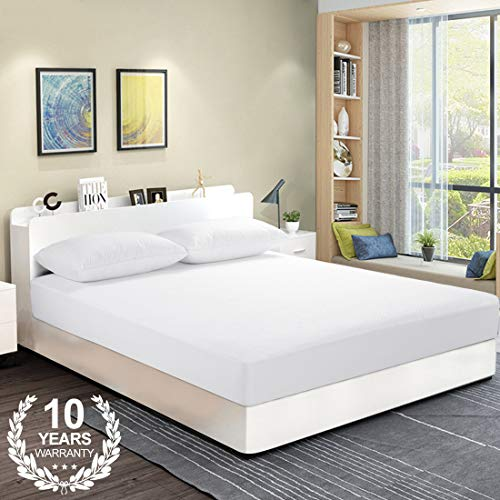 SOPAT King Mattress Protector 100% Waterproof Mattress Pad Cover, 3D Air Fabric Breathable,Smooth Soft Cover