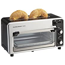 Hamilton Beach 22720 2-Slice Toaster and Small Oven Combo, Black and Silver