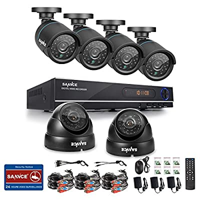 [Upgrade 720P] ANNKE® 4CH 720P HD CCTV DVR System & 2 x HD 1.0 Mega Pixels Indoor / Outdoor Weatherproof Security Cameras System (1280x720 Mega Pixels, P2P Technology,36pcs IR LED for Night Vision, Smartphone QR Code Scan Quick Access)