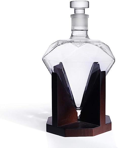 Home-MA Diamond Decanter de Whisky, Licor, Whisky, Ron ...