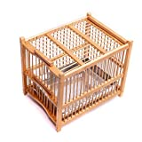 Bird birds bamboo bath cage thrushes starlings mynah white-eye bird cage bathing (Small size:24(L)x18(W)x21(H)cm) Larger Image