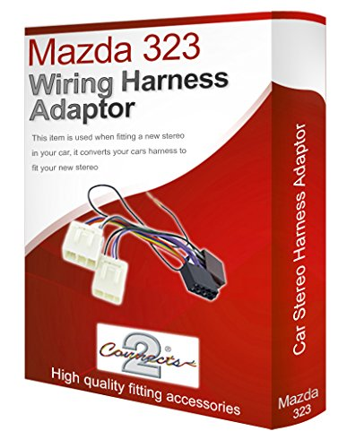 Mazda 323 radio stereo wiring harness adapter lead loom: Amazon.co.uk: Electronics