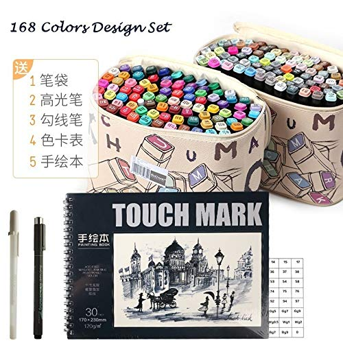 Best Quality - Art Markers - touchmark 30/40/60/80 Color Dual Head Art Marker Set Alcohol Sketch Markers Pen for Artist Drawing Manga Design Art Supplier - by Robeu - 1 PCs -