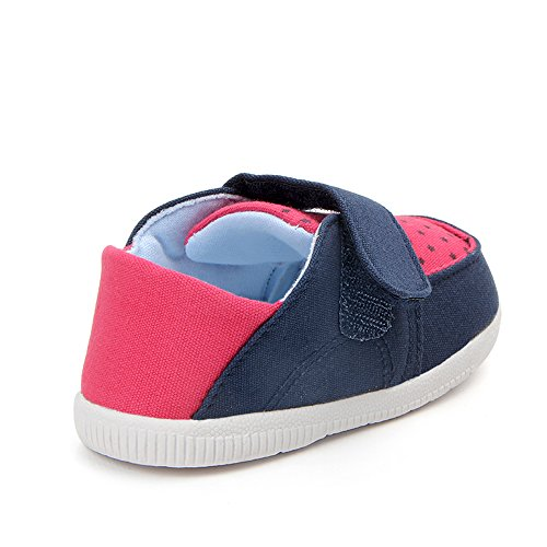 Kuner Baby Boys Girls Cotton Rubber Sloe Outdoor Sneaker First Walkers Shoes (12.5cm(6-12months), Blue+Rose) by Kuner (Image #1)