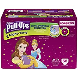 Pull-Ups Night-time Training Pants for Girls, 2T-3T, 68 Count (Packaging May Vary)