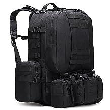 Tentock Tactical Backpack 4-way Compact Military Rucksack Molle Assault Bag Waterproof Shoulder Bag Camping Hiking Trekking Fanny Bag