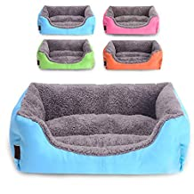 Waterproof Soft Pet Dog Sleep Bed House Cat Claw Warm Bag Mat Puppy Blanket Indoor Pink S