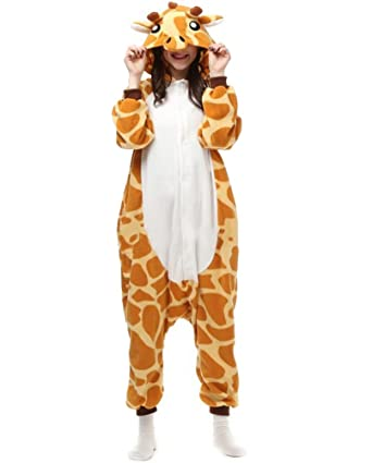 Fandecie Pijama Jirafa, Onesie Modelo Animales para adulto entre 1,60 y 1,75 m Kugurumi Unisex.: Amazon.es: Ropa y accesorios