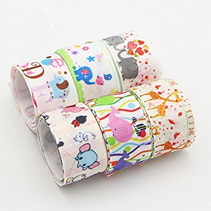 6 unds cintas animalitos algodon saten perfectas para mil ideas lazos pelo, canastillas, vestiditos