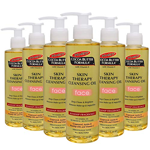 - Palmer's Cocoa Butter Formula with Vitamin E, Skin Therapy Cleansing Oil for Face, Rosehip Fragrance, 6.5 fl. oz. (Pack of 6)