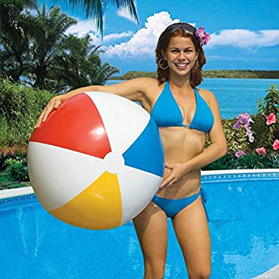 Swimline 2-Pack Inflatable 36-Inch Classic Rainbow Giant Beach Balls | 2 x 90036: Toys & Games