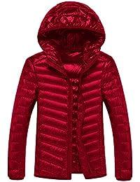 Lightweight Down Jacket Mens Packable Hooded Water Repellent Outwear Puffer Down Jacket