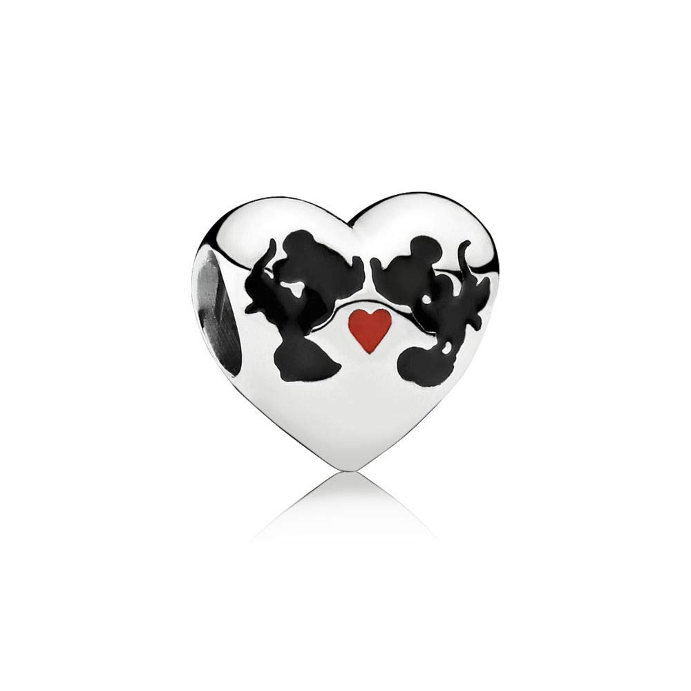 PANDORA Minnie and Mickey Kiss in Sterling Silver 791443ENMX