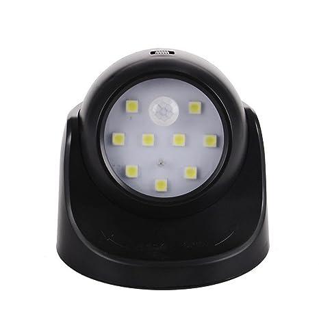 mmlc Detector de movimiento Noche Lámpara de luz 360 ° giratorio SMD LED para escaleras Mantener