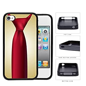 Red Tie Business Swag Rubber Silicone TPU Cell Phone Case Apple iPhone 4 4s