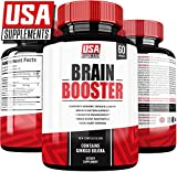 Brain Booster Natural Focus Supplements for Adults | Energy | Memory | Clarity | Mood Enhancement | Brain Fog Capsules with Ginkgo Biloba and Nootropic Vitamins
