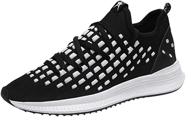 Nebwe 2019 Fashion Shoes Mens Breathable Mesh Casual Wild Sports Shoes Flying Line Running White
